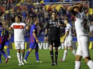 Levante 3-Olympiakos 0, penalti