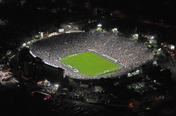 The Rose Bowl is the world's eighth largest field