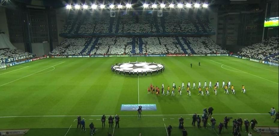 Das Parken Stadion in einem Champions-League-Spiel.