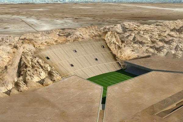 Rock Stadium: the stadium under the desert of Abu Dhabi