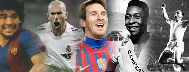 The ten best ever according Colgados for football