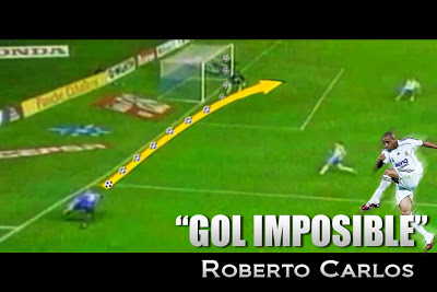 The impossible goal by Roberto Carlos to Tenerife