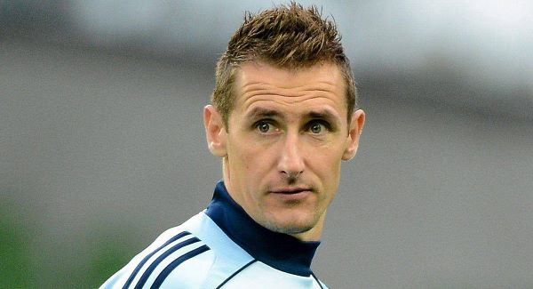 Klose is tied with Müller at the head of the table of top scorers in Germany.