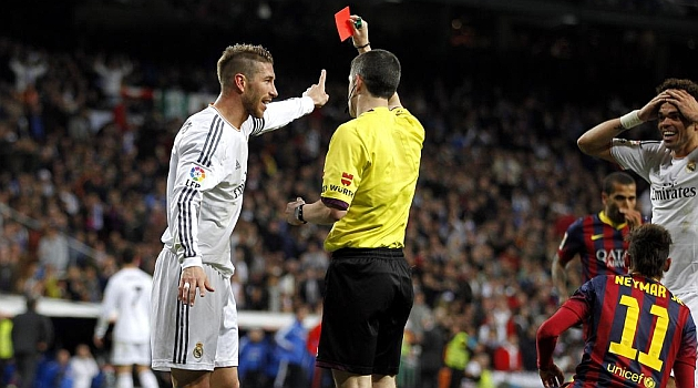 Ramos was sent off in the last classic.