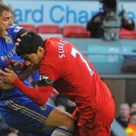Ten match ban for Luis Suarez by the bite Branislav Ivanovic