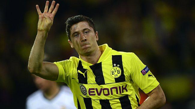 Robert Lewandowski, signed for Bayern Munich in return for 25 millions of euros