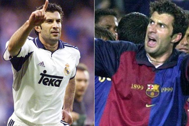 Luis Figo Barcelona and Madrid