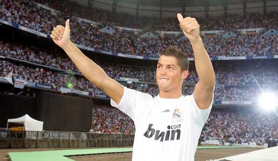 Cristiano Ronaldo, el día de su presentación en el Bernabéu.