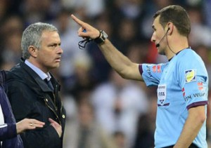 Mourinho was sent off for dissent in the Cup final.