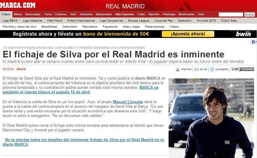 Silva nunca fue madridista.