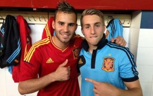 Jesse Rodriguez and Gerard Deulofeu, two of the future beads Spain