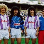 Colombian clan of Real Valladolid in 90