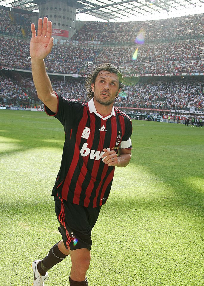 Maldini says goodbye to San Siro