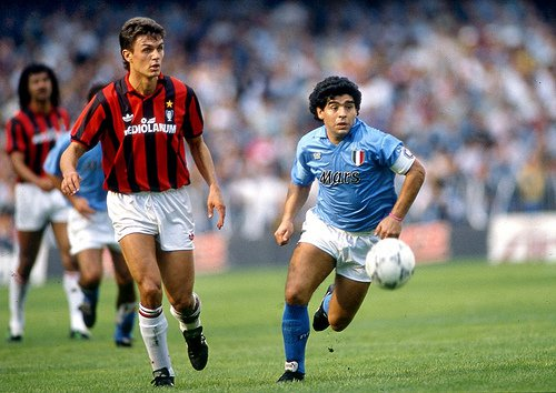 Paolo Maldini played against Maradona in the late 80's