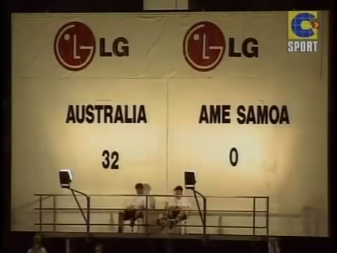 The Australia-Samoa is the biggest win in history. By the way, were 31 Finally, no 32.