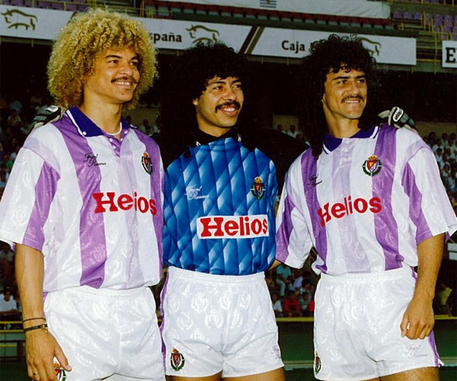 afro, whiskers and dyes were a classic of Colombian players 90.