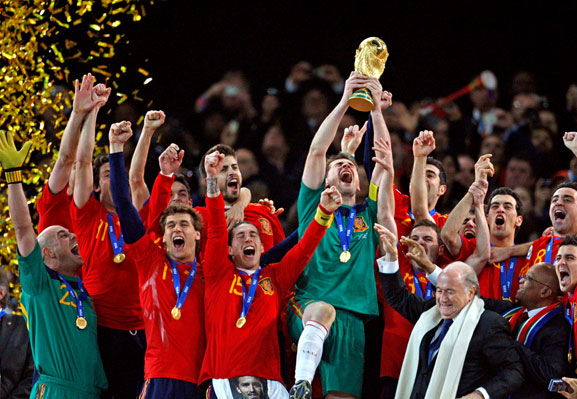 Spain's greatest achievement so far is the World conquered 2010.