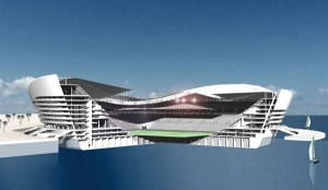 Doha will have a stadium in the sea.