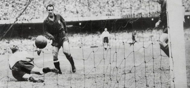 Zarra's goal won the semi-finals of Spain in the World 50.
