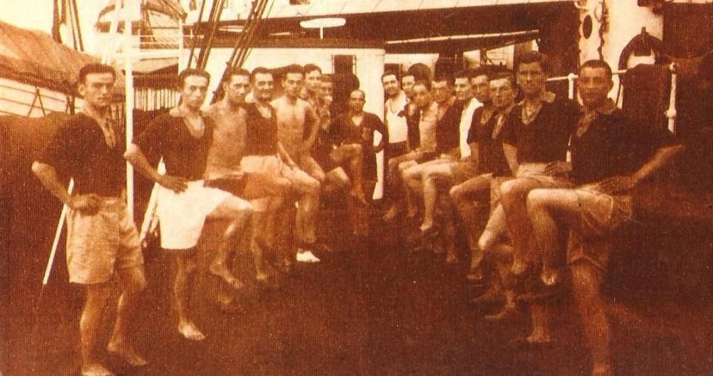 El combinado rumano tuvo que entrenar en el barco de viaje a Uruguay