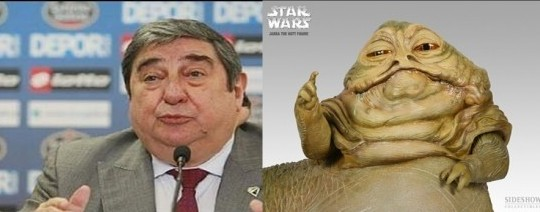 Jabba The Hut Lendoiro and put the same face before the cameras