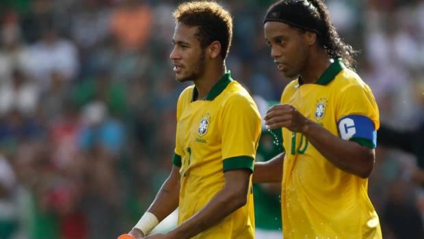 Neymar y Ronaldinho la pueden liar en el Mundial de Brasil de 2014