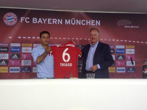 Thiago Alcántara jugará en el Bayern de Munich