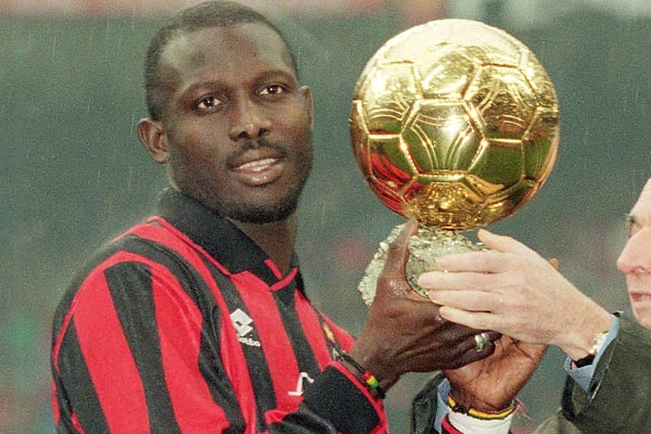 George Weah won the Golden Ball