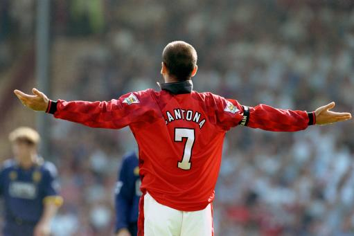 The 7 of the United it was long: Cantona.