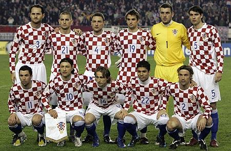 Croacia suele vestir con la bandera de su país habitualmente.