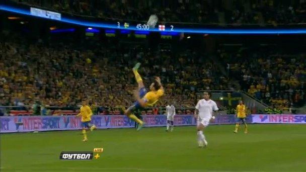 Ibrahimovic marcó un golazo en el estreno del Friends Arena.