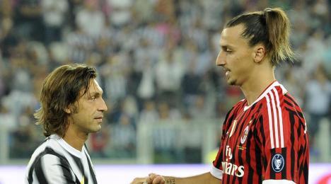 Pirlo und Ibrahimovic, zwei der besten. Beide sind Zigeuner.