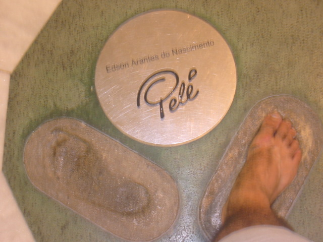 Pele has its mark in the Hall of Fame.