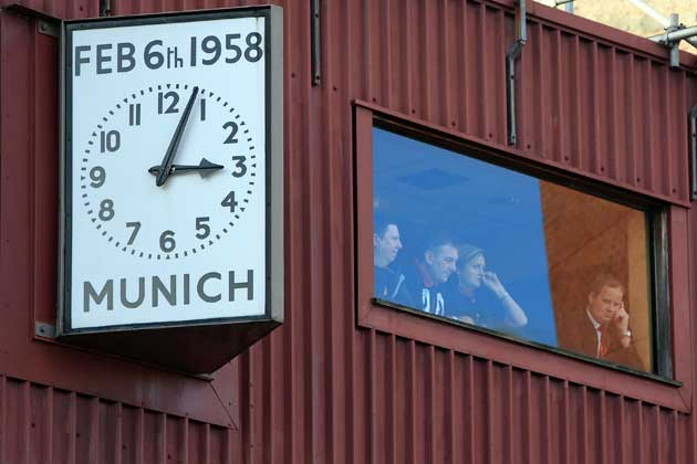Old Trafford this watch indicates the time and day of the air crash 58.