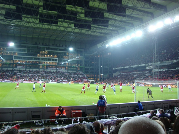 Denmark has the Parken stadium as covered.