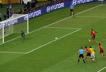 Ramos falló un penalti con 3-0 en contra.