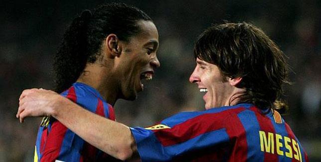 Ronaldinho y Messi, magia  en estado puro