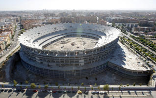 Work on the new Mestalla are stops for years