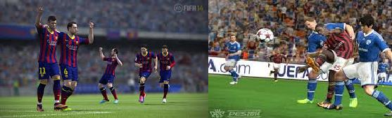¿PES 14 o FIFA 14? The great dilemma for gamers