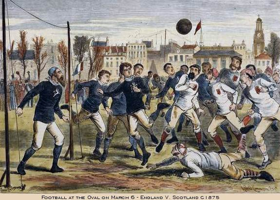 England and Escoia played in 1875 Under these conditions. The first ones won.