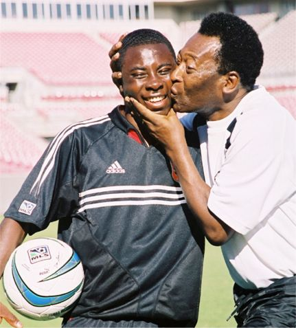 Freddy Adu with Pele. Expectations knocked the kid.