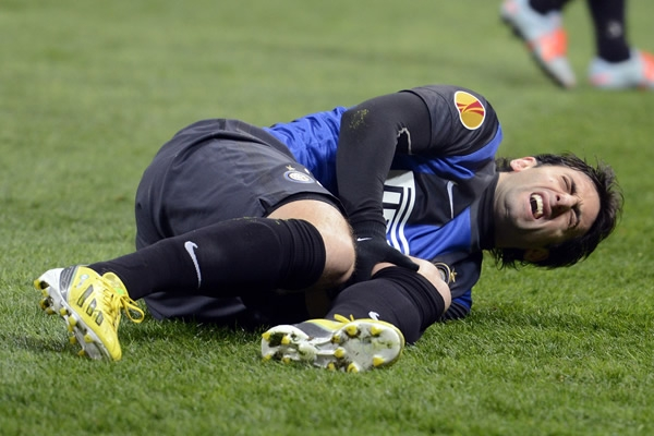 Serious injury of Diego Milito, Inter striker has not really helped the team.