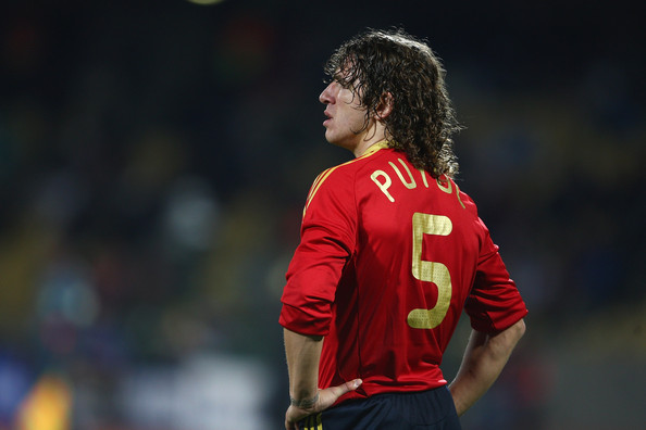Puyol has played 100 matches with Spain.