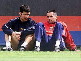 Pep Guardiola y Mourinho, del amor al odio hay una ligera línea.