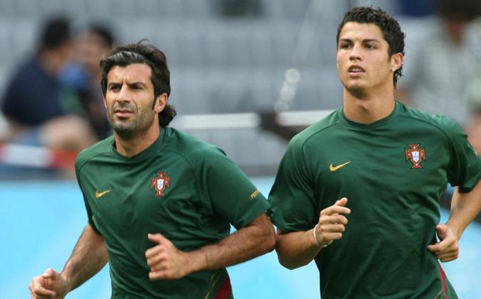 Luis Figo and Cristiano Ronaldo