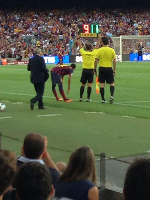 La goleada del Barcelona trajo el debut de Neymar.