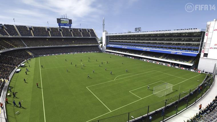 La Bombonera saldrá en FIFA 14 junto a la Liga argentina.