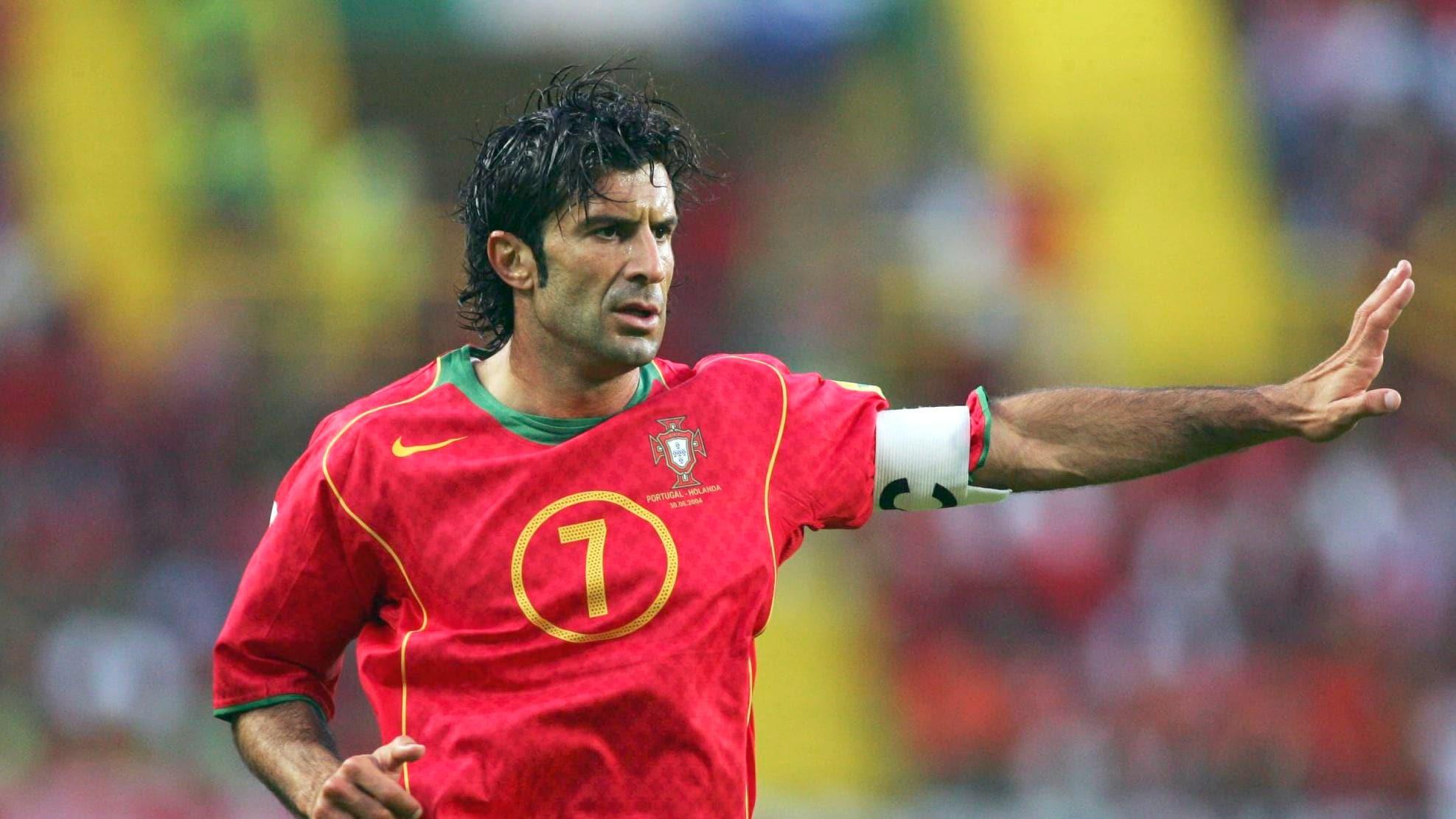 Luis Figo, einer der besten Flügelspieler in der Geschichte