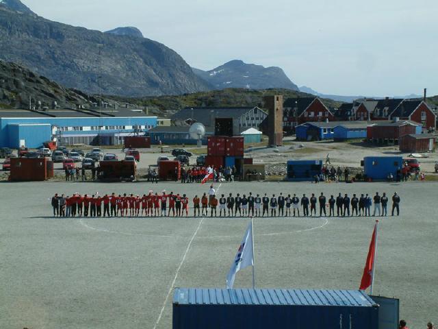 El estadio nacional de Nuuk es donde juega Groenlandia sus partidos.