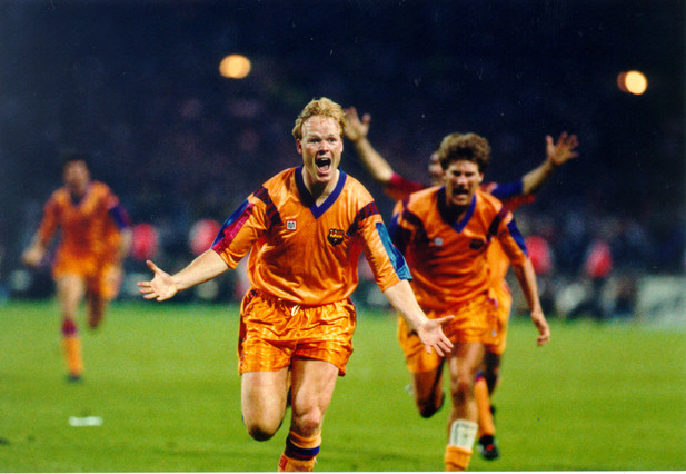 Ronald Koeman, the defense's goalscorer